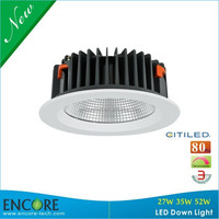 IP44 40degree 6inch 8inch 27W 35W 52W COB katalog lampu downlight LED