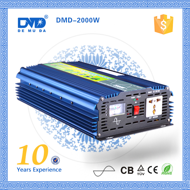 Off grid 12v 220v 2000w plug and play high frequency inverter pure sine wave