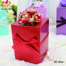 Rectangular metal wedding candy/chocolate/ tin box, oem tea can