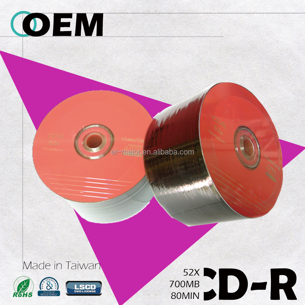 CD-R in bulk OEM create your own brand logo/Taiwan manufacturer quality guarantee