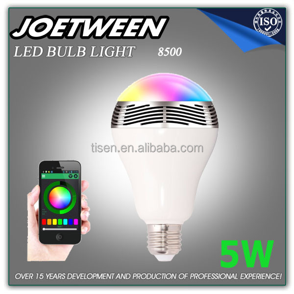 Christmas Bluetooth smart RGB LED bulb Light with Music Speaker 8500