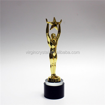 Golden Plating Metal Sculpture Global Themed Sports Trophies