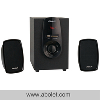 Black 2.1 Multimedia Speaker Systemfor Young People