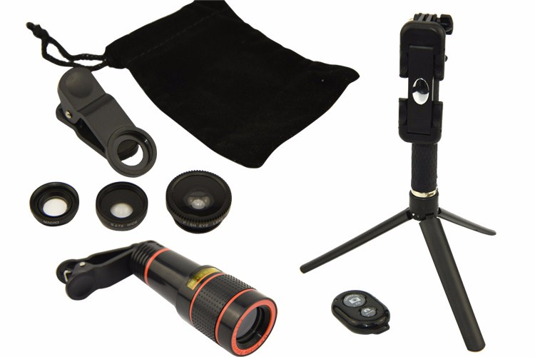 Christmas gift travel kit with telephoto lens for mobile phone