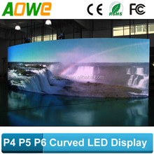 p6 curved led display/led signs/led video wall