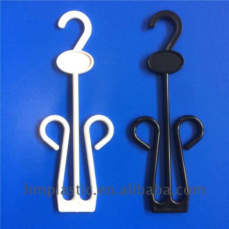 Factory directly offer 14cm white pp plastic hook for display sandals