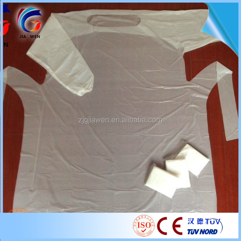 CPE Protective Gown,Plastic Medical Isolation Gown,Disposable CPE Clothes