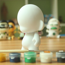 12cm blank diy vinyl figure,make custom vinyl toys,create own design blank diy toys for kids