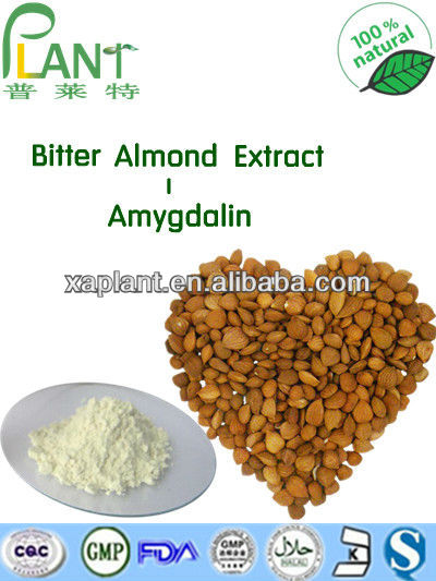 GMP Manufacturer High Quality &100% natural apricot kernels extract- amygdalin 98%, 99% vitamin B17 29883-15-6