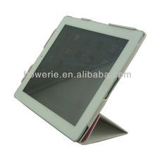 FL620 guangzhou wholesale pu leather case For ipad2 3, simple elegant stand case for ipad2, sleep wake-up funtion