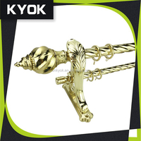 KYOK China made High quality Curtain rod factory window hardware curtain pipe wholesale, curtain rods wholesale