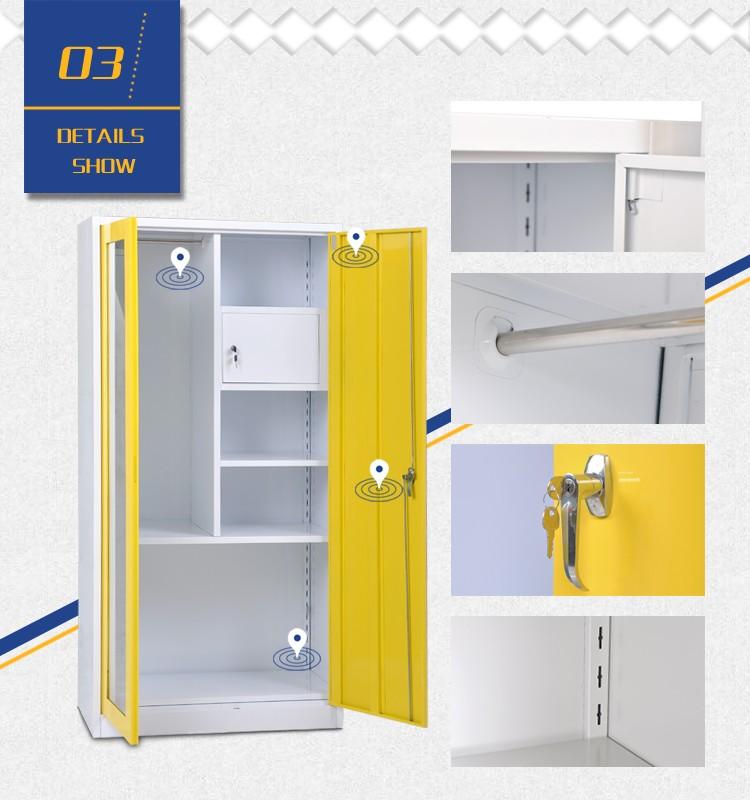 Bedroom two door steel locker wardrobe cupboard in modern for Bedroom almirah designs india