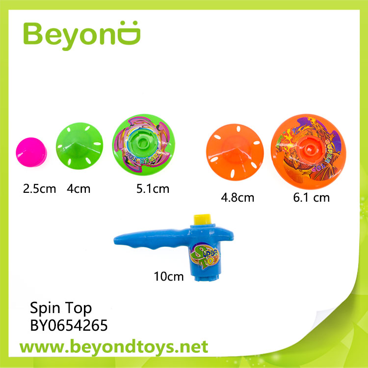 plastic spinning top toy With 5 Tops