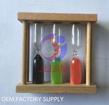 Customized sand timer hourglass for 1,2,3,4,5 minutes
