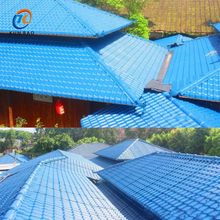 Long life time new Spanish style ASA pvc plastic synthetic resin roof tile for all types of slope roof