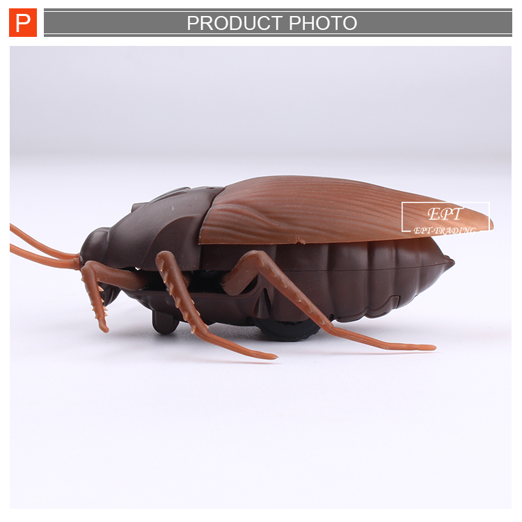 Realistic novel spooky toys infrared rc cockroach radio control roach bug