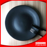 wholesale home use ceramic black plate