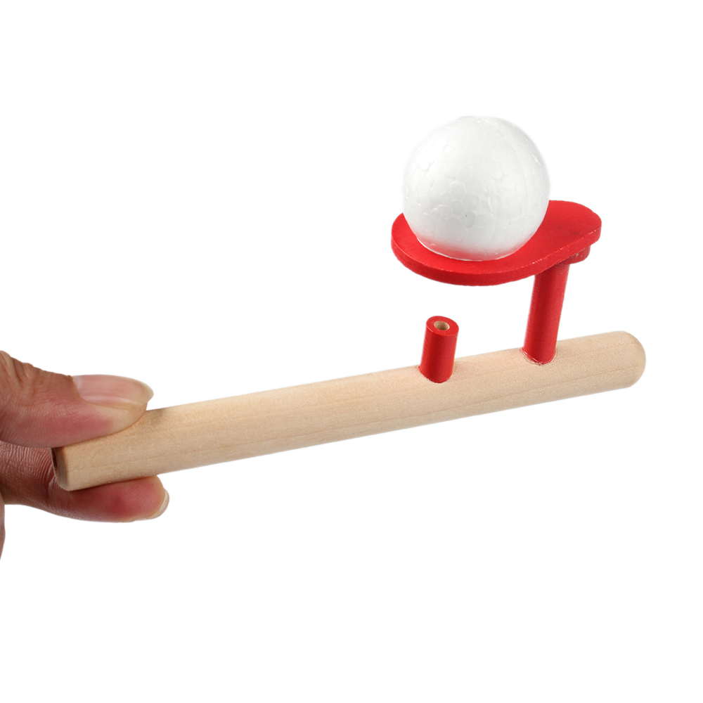 Baby Wooden Puzzle Toys Kids Blowing Ball Balance Training Blow Ball Rod Children Boys Girls Learning Educational Toy