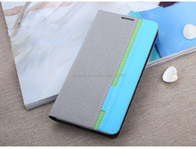Contrast color Fashion PU Leather Wallet Flip Mobile Phone Case Cover For HTC D600