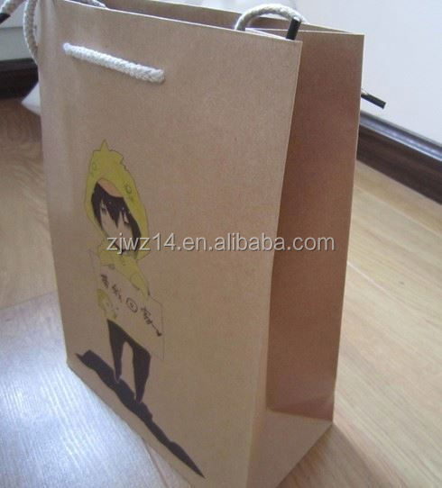 2015 fashion foil paper bag for chicken/ food brown paper bag with window/ christmas wrapping paper bag