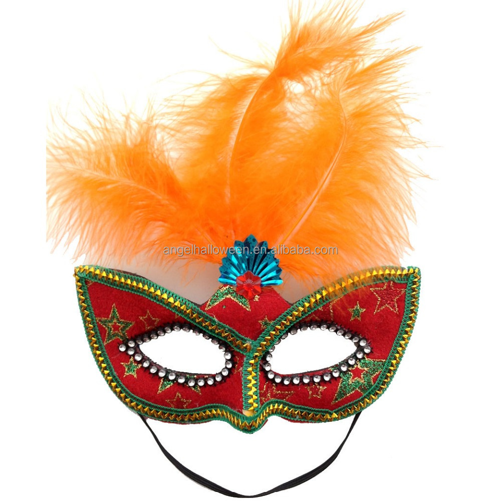 Hot sale Fashionable Feather Masquerade Masks Carnival Ball Eye Women Men Fancy Dress Mask FM4031