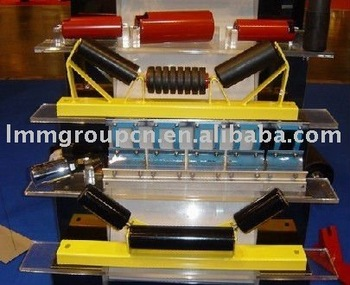 rubber belt conveyor steel idler