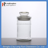 LongRun glassware whole sale narrow canning jar with seperate glass cover