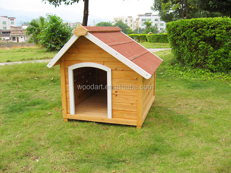 Beautiful Design pointed roof outdoor decorative dog kennels waterproof
