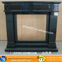 Natural Stone Black indoor used fireplaces No MOQ