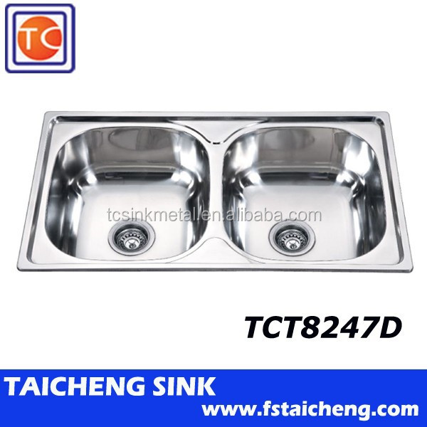 TCT8247D Stainless Steel Industrial Kitchen Sink