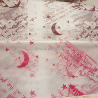 Moon and Stars Shape Colored Translucent OPP Cellophane Paper For Gift Wrapping