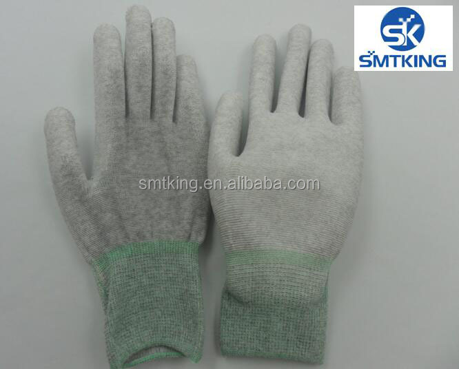ESD PU coated Palm Gloves /industrial gloves/Coated gloves
