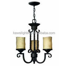 Old Black 3 Light 1 Tier Candle Style Mini Chandelier