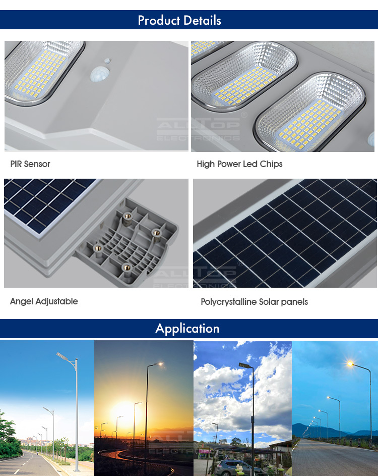 ALLTOP High quality 30 60 90 120 w all in one Waterproof ip65 outdoor solar led garden light price