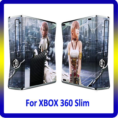 For XBOX360 Sticker Vinyl Skin for Slim Console Customer Design Accepted