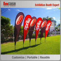 Logo printed promotion table flag stand