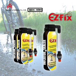 Bike anti puncture liquid tire sealant and inflator