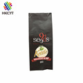 OEM matte finished 1kg side gussest coffee package bag with valve / aluminum foil laminated coffee pack