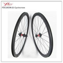 Carbon wheels 38mmx23mm disc braking bicycle wheelset, 700C Full carbon cyclocross wheels clincher with DT 240S Disc hub 6 bolt