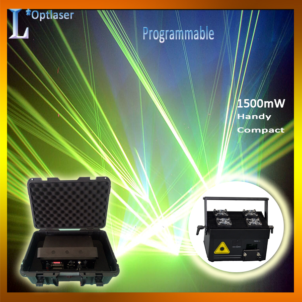 Safe laser show system 1500mW multi-colors laser dance equipment for stage events parties.