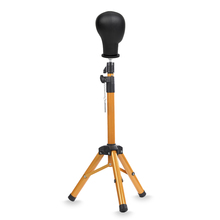 Alileader Luxurious Canvas Block Head Tripod Wig Stand With Travel Bag