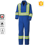 Industrial Protective Clothing Hi Reflective Stripe 100%Cotton Coveralls/\Fire Retardant Safety Coveralls for Oil &Mining