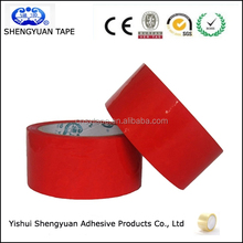 Alibaba Hot Sell Strong Adhesive Carton Sealing Products red Colored Bopp Packing Tape for Packaging
