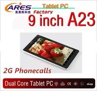 2014 best seller 9 inch allwinner boxchip A13 up to A23 dual core android 2g 3g tablet pc with gsm
