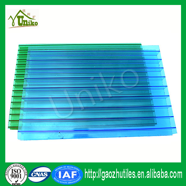 100% GE BAYER raw materials waterproof pc twin-wall crystal sheet polycarbonate cellular sheet