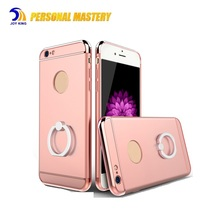 3 in 1 2017 OEM Smartphone Hybrid PC Case for iphone 6s with ring holder,mobile phone accessories