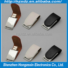 Factory made Christmas / Birthday Promotional Gift gift usb key Leather / Metal usb flash drive 32GB Best quality cheap price