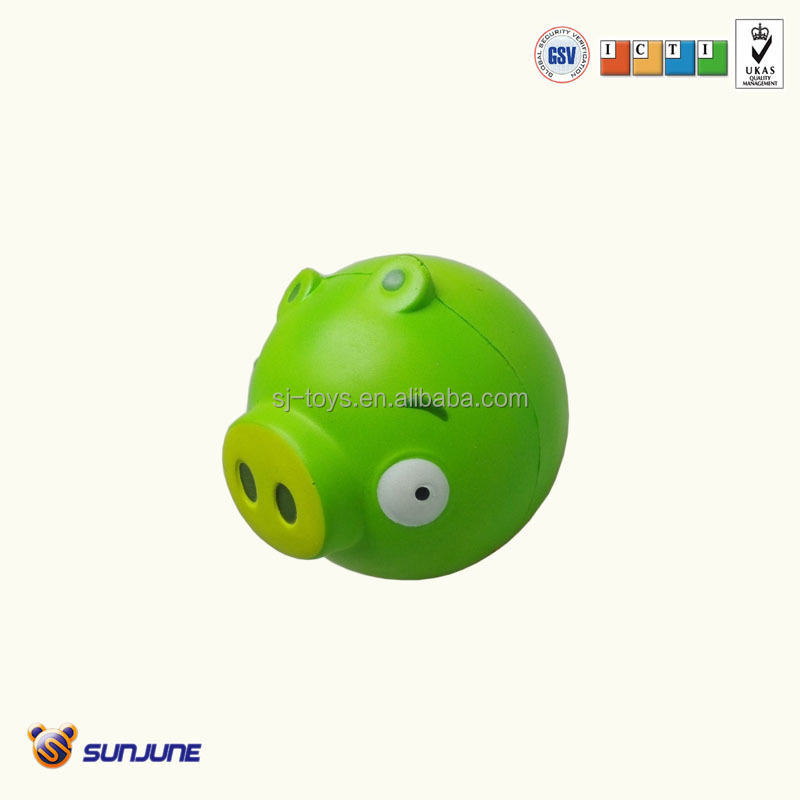 Pu soft frog toy, stress cut the rope child toy