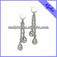 teardrop and chain surgical stainless steel