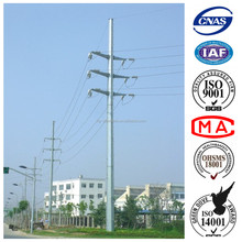 35KV Galvanized Electric Steel Poles for Transmission Tower